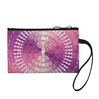 Pink and Purple Mandala Flower Coin Purse