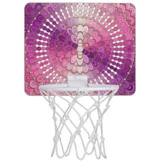 Pink and Purple Mandala Flower Mini Basketball Hoop