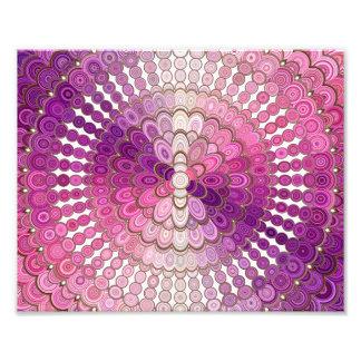 Pink and Purple Mandala Flower Photo Print