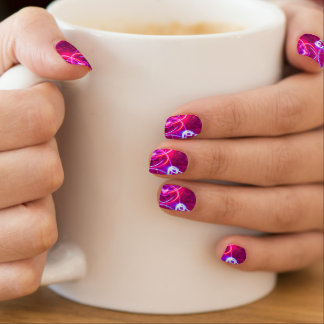 Pink And Purple Modern Abstract Pattern Minx Nail Art