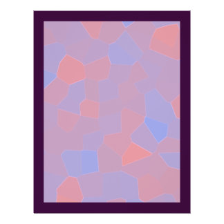 Pink and Purple Mosaic Abstract Flyer