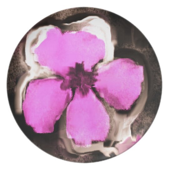 Pink and Purple Pansy Plate