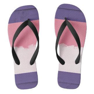 Pink and Purple Pastel Flip Flops