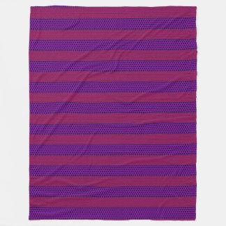 Pink and Purple Patterned Stripes Fleece Blanket