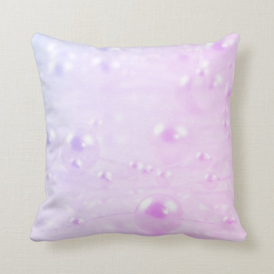 Pink and purple pearls throw pillow
