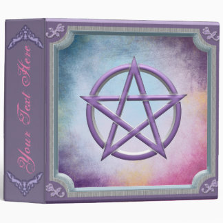 Pink and Purple Pentacle Book Of Shadows Binders