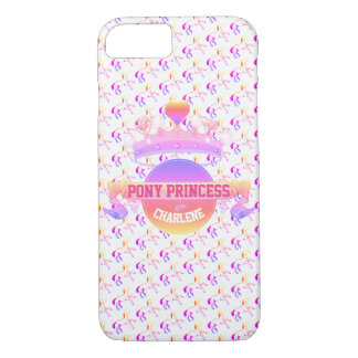 Pink and Purple Pony Princess iPhone 8/7 Case