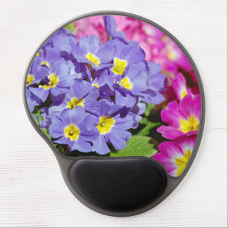 Pink and purple primroses gel mouse pad