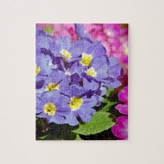 Pink and purple primroses jigsaw puzzle