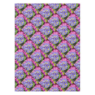 Pink and purple primroses tablecloth