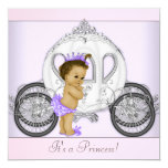 Pink and Purple Princess Baby Shower Custom Announcements