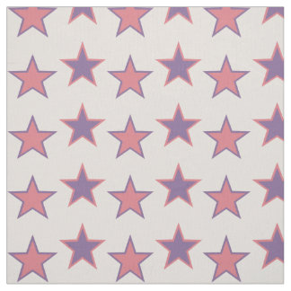 Pink and Purple Princess Stars Fabric
