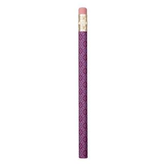 Pink And Purple Retro Pattern Pencil