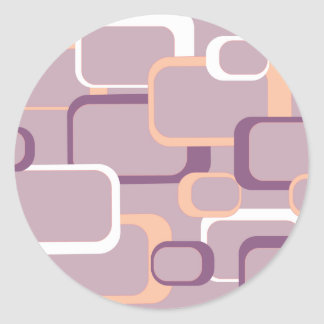 Pink and Purple Retro Square Sticker