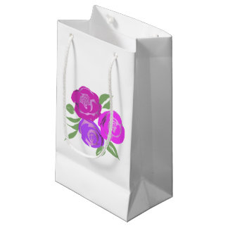 Pink and Purple Roses Gift Bag