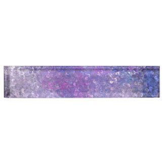 Pink And Purple Sequins Bling Name Plate