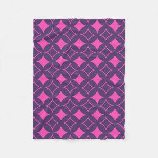 Pink and purple shippo fleece blanket