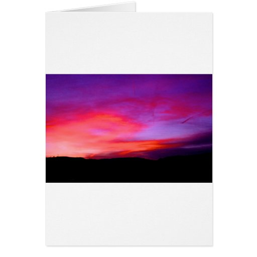 pink and purple sky card