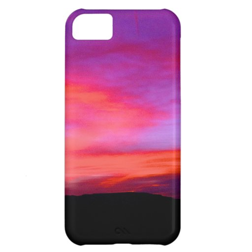 pink and purple sky cover for iPhone 5C