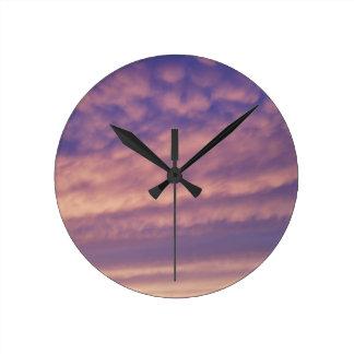 Pink and Purple Sky Clock
