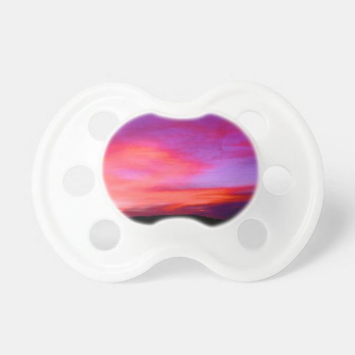 pink and purple sky baby pacifier