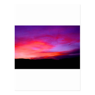 pink and purple sky post cards