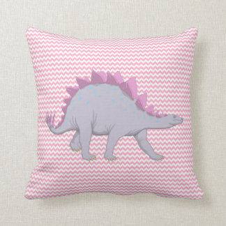 Pink and Purple Stegosaurus Dinosaur Pillow