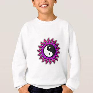 Pink and Purple Sunburst Yin Yang Sweatshirt