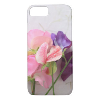Pink and purple sweet peas iPhone 8/7 case