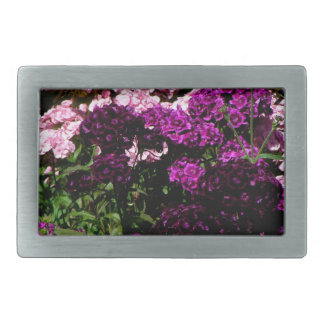 Pink and Purple Sweet William Belt Buckle