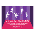 Pink and Purple Trampoline Party Inviation Invite