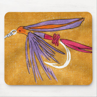 """Pink and Purple"" Trout Fly Mousepad"