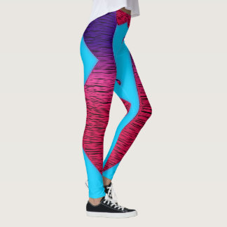 Pink and Purple Tux Glow Leggings