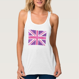Pink and Purple Union Jack Tank Top
