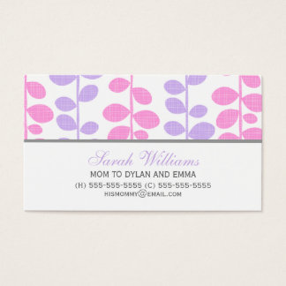 Pink and Purple Vines Business Card