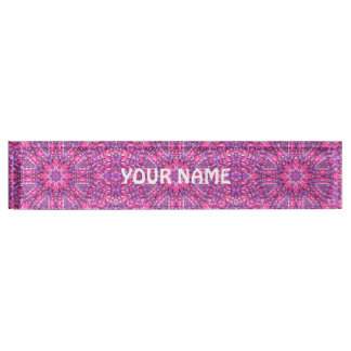 Pink And Purple Vintage  Desk Nameplate