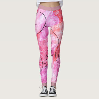 pink and purple  with black accent leggings
