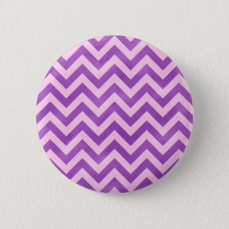 Pink and Purple Zigzag 2 Inch Round Button