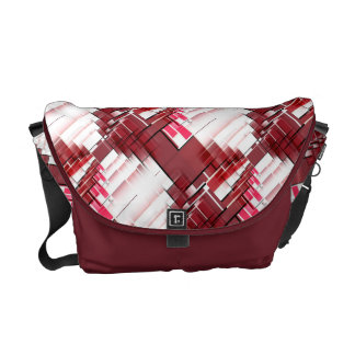 Pink And Red Abstract Pattern Messenger Bag