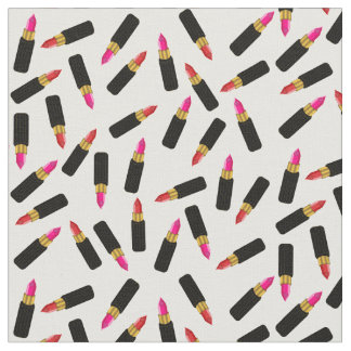 Pink and Red Chic and Sultry Lipstick Pattern Fabric