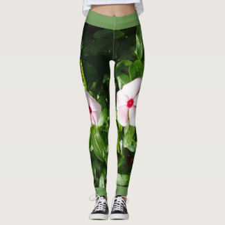 PINK AND RED FLOWERS LEGGINGS