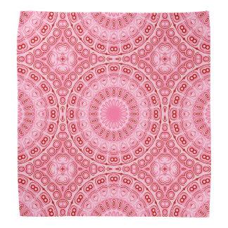 Pink and Red Mandala Kaleidoscope Design Do-rags