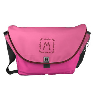 Pink and Red Monogram Courier Bag