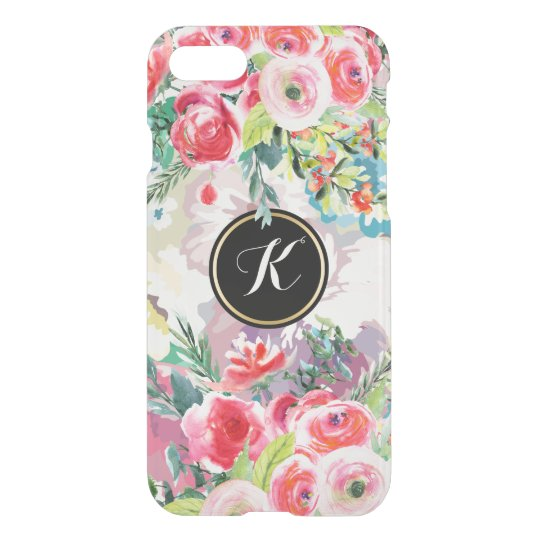 Pink And Red Roses Floral Collage iPhone 7 Case