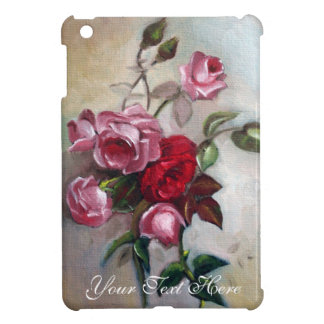 Pink and Red Roses Floral iPad Mini Case