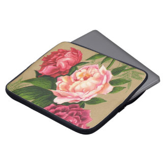 Pink And Red Roses Painting Laptop Computer Sleeves