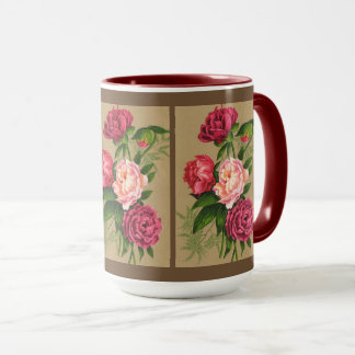 Pink And Red Roses Painting Mug