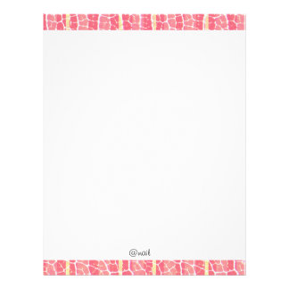 pink and red stripes letterhead