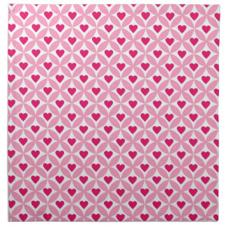 Pink and Red Valentine's Day Hearts Pattern Napkin