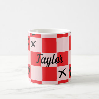 Pink and red X's and O's tic tac toe hearts Coffee Mug